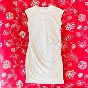 Athleta Striped Carefree Stretch Ruched Dress